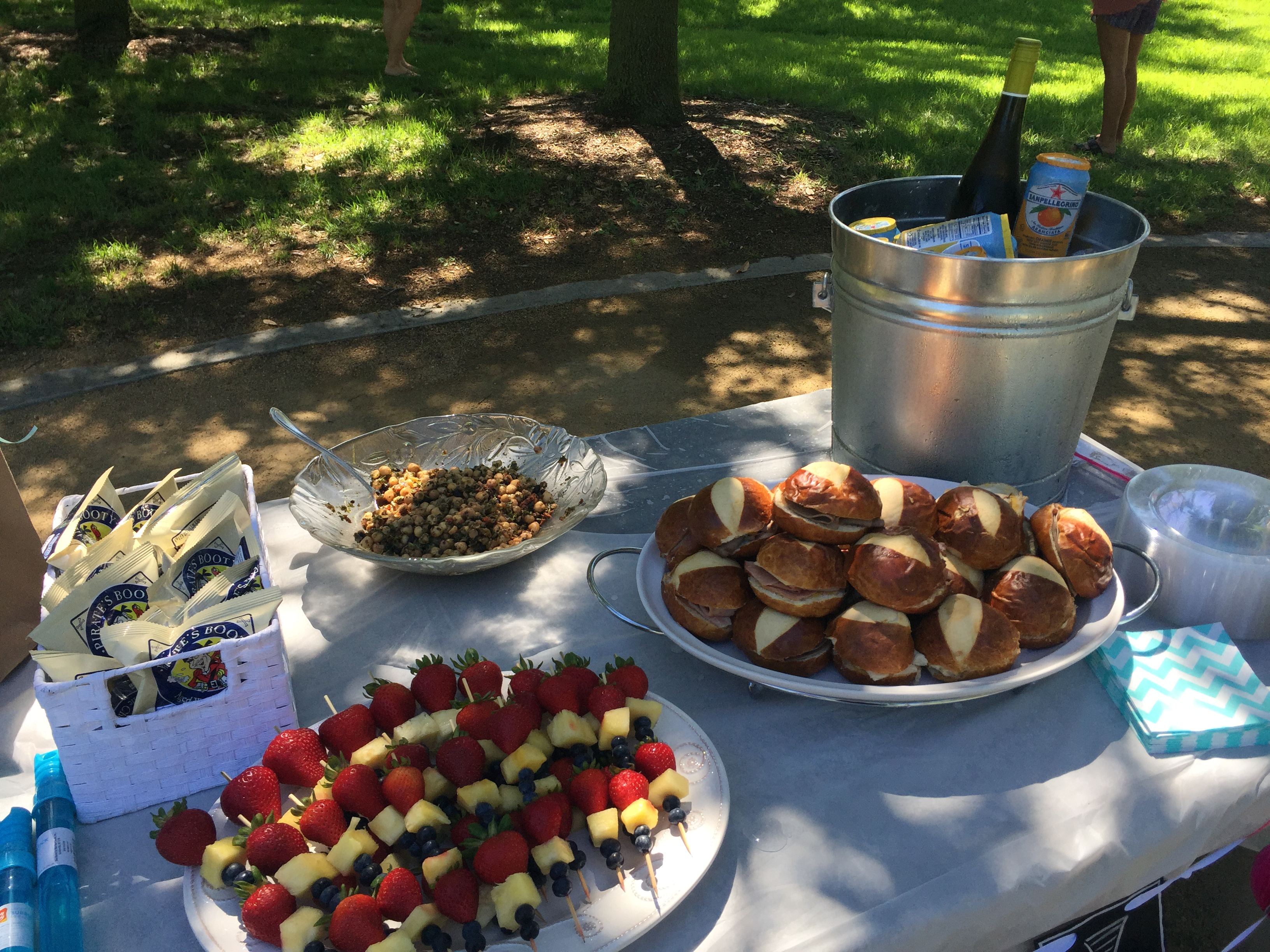 These Particular Skewers Were Made For An Outdoor Park Party It Was Summertime So I Did Strawberries Pineapples And Blueberries